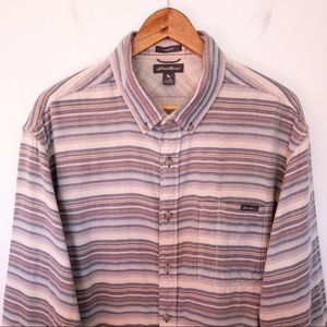 EDDIE BAUER Men Size XL Shirt Flannel Classic Fit
